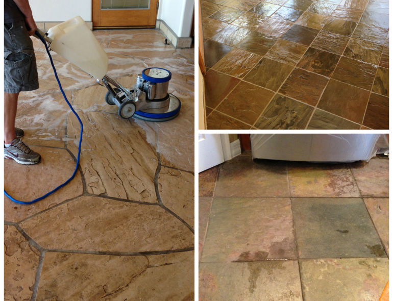 Slate Flagstone Cleaning Pv Interiors Tile Cleaning
