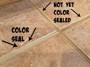 Grout Color Seal Sample