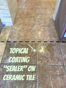 Topical Sealer on Tile