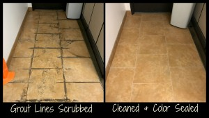 Grout Cleaning & Color