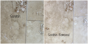 travertine scratch removal